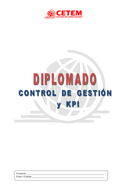 diplomado control de gestión y kpi