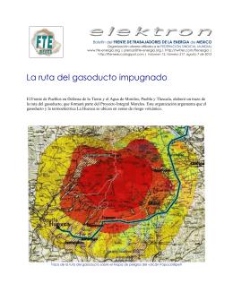 La ruta del gasoducto impugnado - Frente de Trabajadores de la
