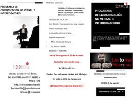 PROGRAMA DE COMUNICACIÓN NO VERBAL E INTERROGATORIO