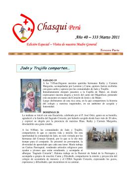 CHASQUI Perú Año 40 - 333 Marzo 2011
