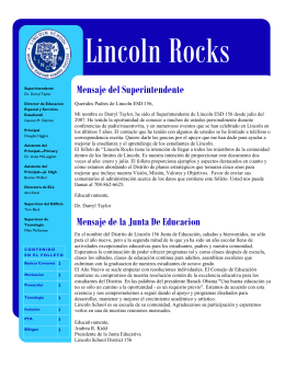 Lincoln Rocks iss 2 Spanish Final