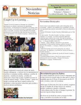 Noviembre Noticias - Orange Public Schools