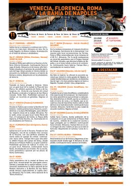 VENECIA, FLORENCIA, ROMA Y LA BAHÍA DE NÁPOLES