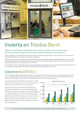 Invierta en Triodos Bank