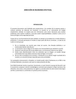 DIRECCIÓN DE REUNIONES EFECTIVAS.