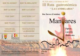 III Ruta gastronómica - Ayuntamiento de Dos Torres