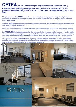 GUIA 2010 PARA PACIENTES - Rodilla y Cadera | CETEA