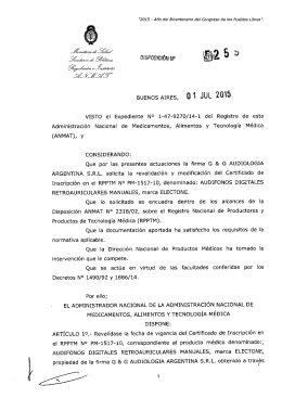Disposición 5259 - 15