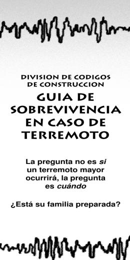 GUIA DE SObREVIVENCIA EN CASO DE TERREMOTO