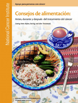 Consejos de alimentacion – National Cancer Institute.