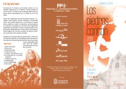 Folleto Las Piedras Cantan 2011