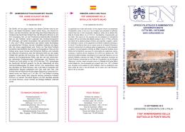 1700° Anniversario della Battaglia di Ponte Milvio.indd
