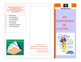 EN TEMPORADA DE LLUVIAS…..
