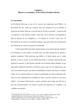 Capítulo 2 México: su economía y la inversión extranjera directa