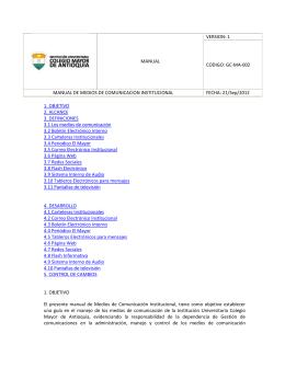 Manual de Medios de Comunicación Interno