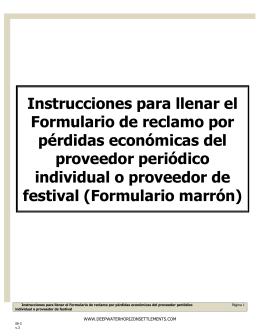 Instrucciones (Formulario marrón)