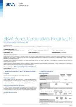 BBVA Bonos Corporativos Flotantes, FI