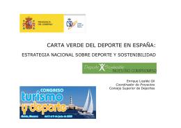 Carta Verde del Deporte Español