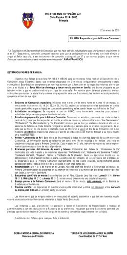 COLEGIO ANGLO ESPAÑOL A.C. Ciclo Escolar 2014