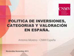 Valoración y política de inversiones de las IICs en España