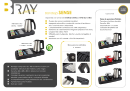 Folleto B~TRAY Hospitality Trays | Bandejas de Hospitalidad