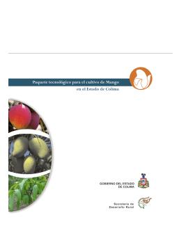Paquete Tecnologico Cultivo del Mango