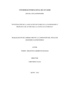 investigación de la aplicación de flores en la gastronomía y