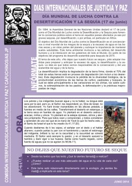 17/06/2014 Día Mundial de lucha contra la