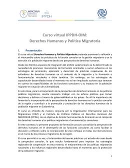 Curso virtual IPPDH-OIM: Derechos Humanos y Política