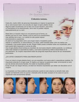 Cirugía nasal Dr. Gustavo Miery www.gustavomiery.com