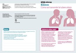 Básicos Cómo se transmite la tuberculosis