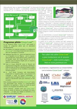 Programas piloto Green Lead™