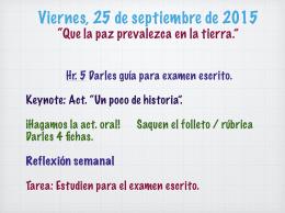 25 septiembre.key