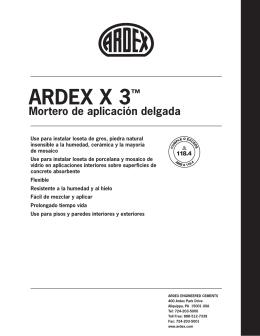 ARDEX X 3™ Mortero de aplicación delgada