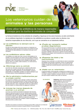 Los veterinarios cuidan de los animales y las personas