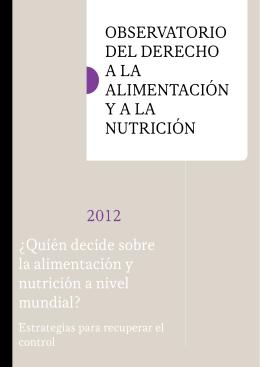 Quién decide sobre la alimentación y nutrición a nivel mundial
