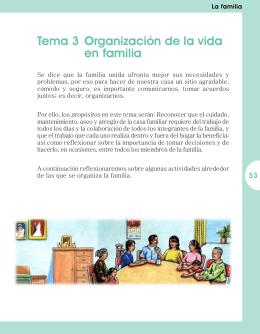53 Tema 3 Organización de la vida en familia