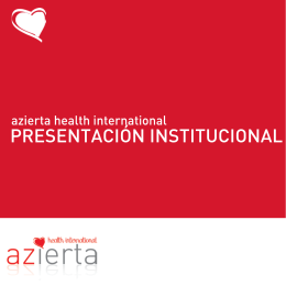 Folleto informativo Azierta Health International