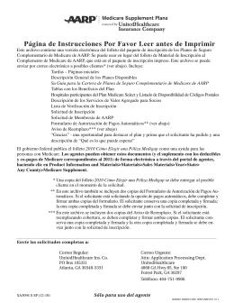 Agent 2011 Spanish WEB PDF - UnitedHealthcare MedicareRx for
