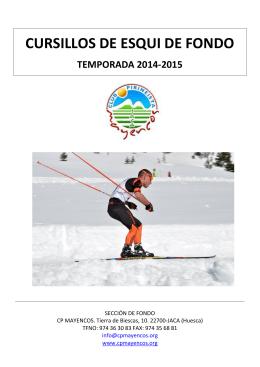 Folleto cursillos esquí de fondo Mayencos 2014-15