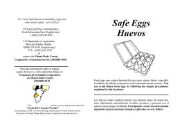 Safe Eggs Huevos - Miami-Dade County Extension Office