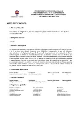 Reglamento y Plan de Acción Social de la Universidad de Córdoba