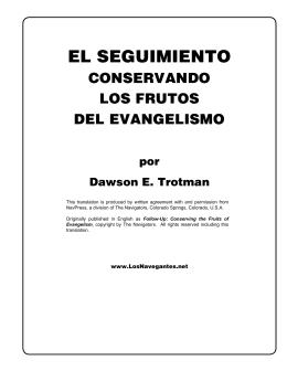 Conservando los Frutos del Evangelismo