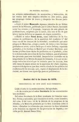 Sesión del 4 de Junio de 1879.