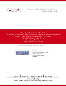 Accesibilidad en el proceso de admisión a la Universidad de Costa