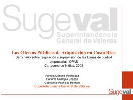 Las Ofertas Públicas de Adquisición en Costa Rica