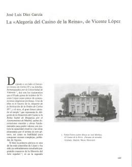 La «Alegoría del Casino de la Reina», de Vicente López