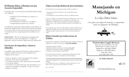 Manejando en Michigan - Farmworker Legal Services of Michigan