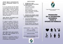 promoción de la vacunación antigripal desde su oficina de farmacia