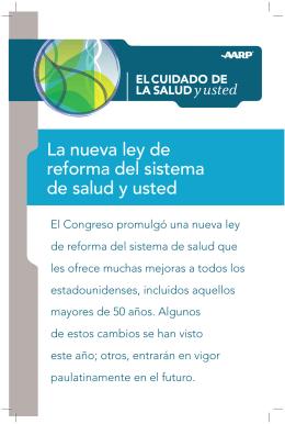 La nueva ley de reforma del sistema de salud y usted